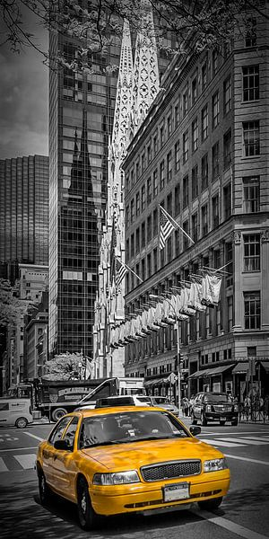 MANHATTAN 5th Avenue | Panorama verticale van Melanie Viola