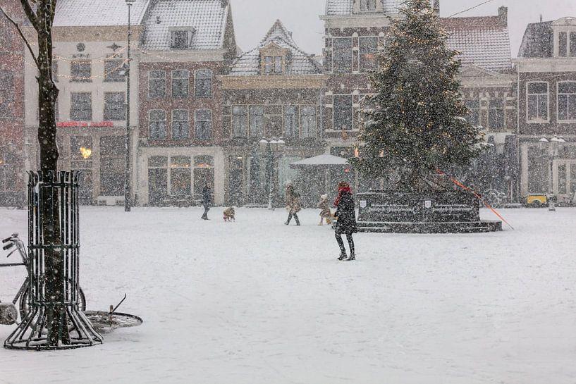 Sneeuw op het Hof in Amersfoort van Dennisart Fotografie