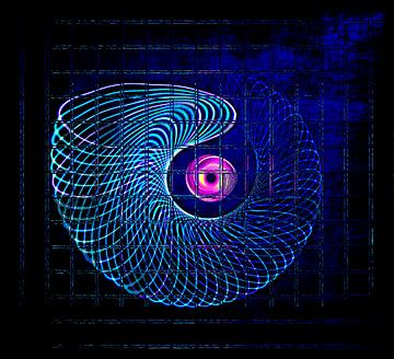 Illuminated helix #5 van Leopold Brix