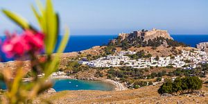 Lindo's op het eiland Rhodos in Griekenland