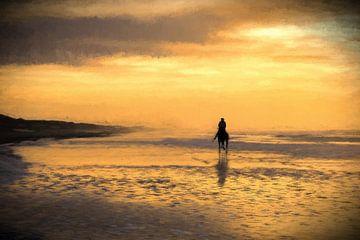 Pferd am  holländischen Strand von eric van der eijk