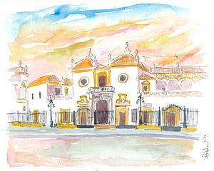 Sevilla Plaza De Toros Maestranza In Andalusien Spanien