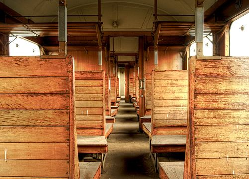 Abandoned Old Train van