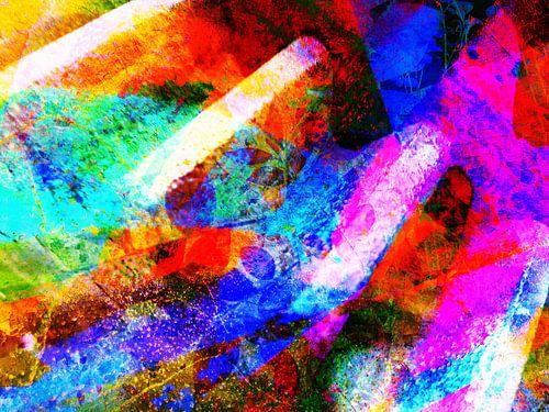 Modern, Abstract kunstwerk - Show Me The Way (part 2) van