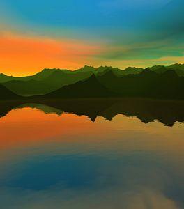 Coucher de soleil dans les montagnes 14