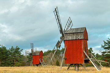 Die roten Mühlen von Öland von Gerry van Roosmalen