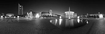 Leipzig - Augustusplatz Skyline Panorama