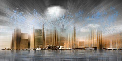 City Shapes Manhattan Skyline   Panoramic van Melanie Viola