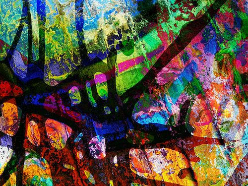 Modern, Abstract kunstwerk - Between the Rise & Fall van Art  By Dominic