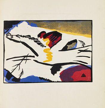 Ton 2, Pferd mit Reiterin, WASSILY KANDINSKY, 1913 von Atelier Liesjes