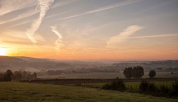 Zonsopkomst bij Epen in Zuid-Limburg van