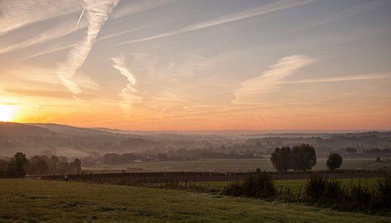 Zonsopkomst bij Epen in Zuid-Limburg