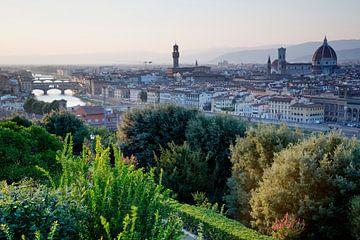 Florence bij zonsondergang von