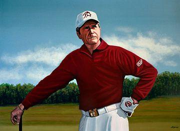Gary Player schilderij von Paul Meijering