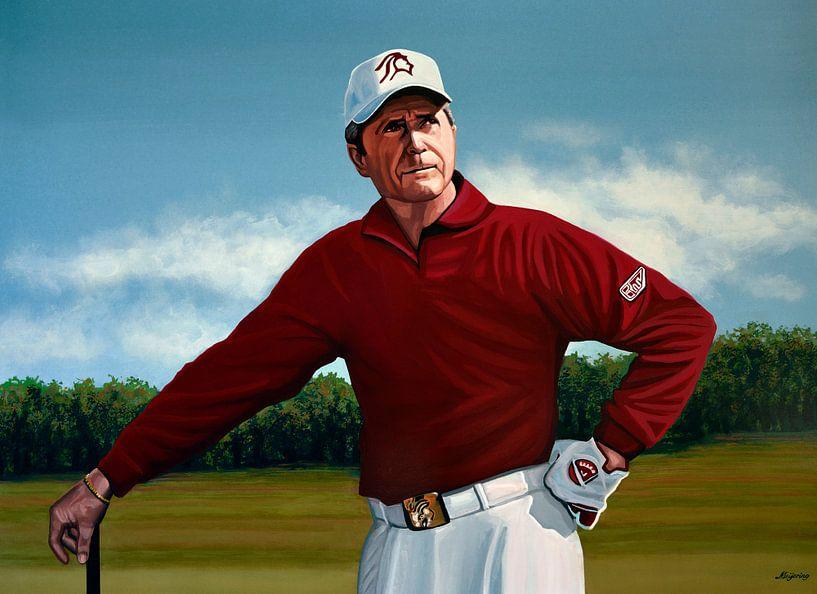 Gary Player schilderij van Paul Meijering