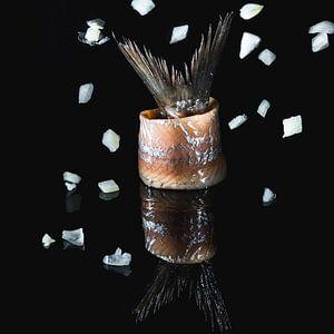 Nederlandse nieuwe haring, Dutch fresh herring van Corrine Ponsen