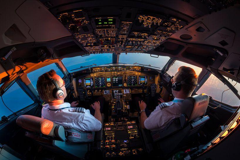 Cockpit sunset van Martijn Kort