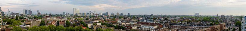 Breed panorama van de stad Rotterdam, Netherlands van Martin Stevens