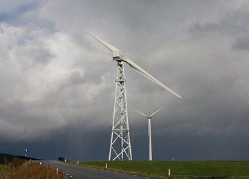 Windmühlen bei Eemshaven von Pim van der Horst