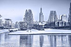 Winter in het Museumpark - monochroom