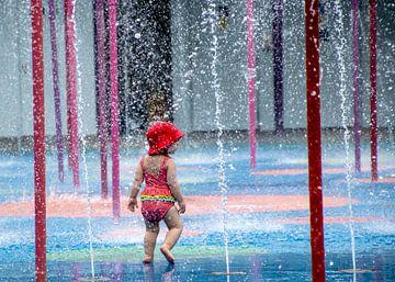 Entre des fontaines