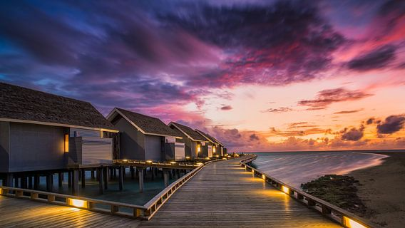 Sunset op de Malediven