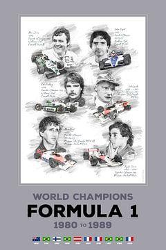 Formule 1-wereldkampioen van 1980 tot 1989 van Theodor Decker