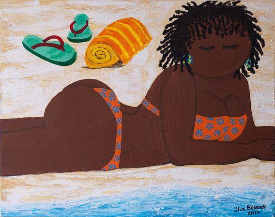 Lekker lui aan het strand van Ilia Berends