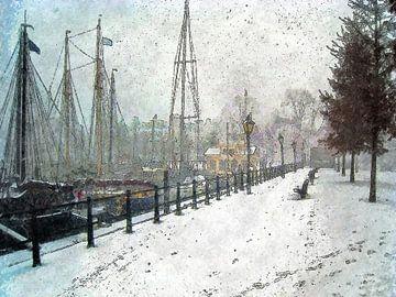 Winterbeeld Veerhaven von
