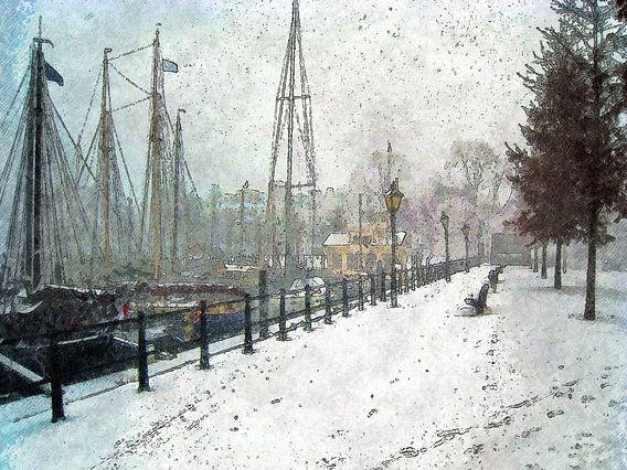 Winterbeeld Veerhaven