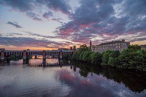 Glasgow sunset  van AnyTiff (Tiffany Peters)