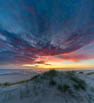 Texel Paal 12 nach dem Sonnenuntergang von Texel360Fotografie Richard Heerschap
