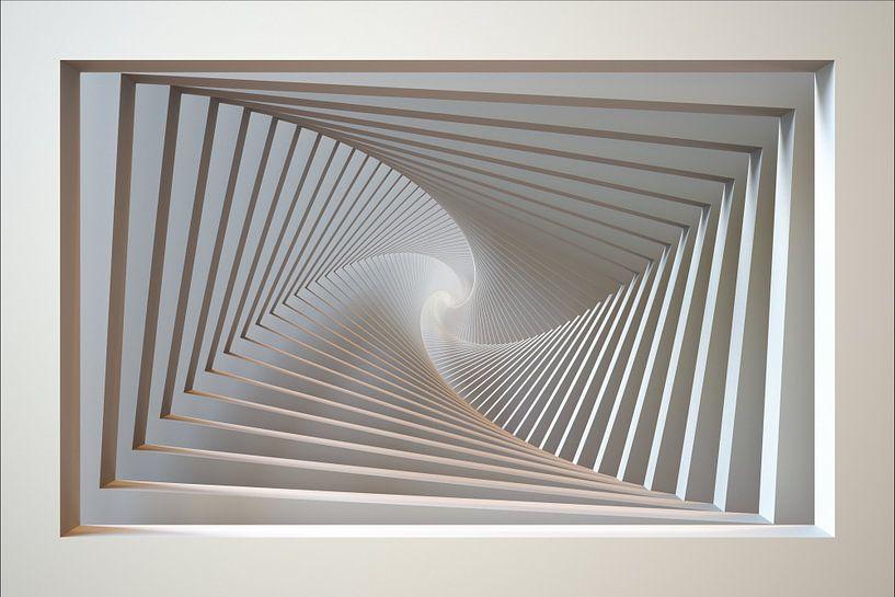 Spiraal raam van Chrisjan Peterse