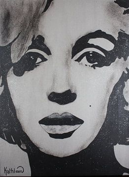 "Marilyn Monroe ""Diamanten"" von Kathleen Artist Fine Art"