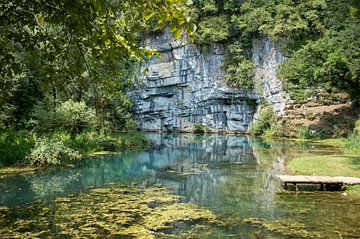 De Kolpa Rivier in Slovenië van Reis Genie