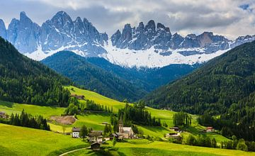 Santa Maddalena, Dolomites, Italie sur Henk Meijer Photography