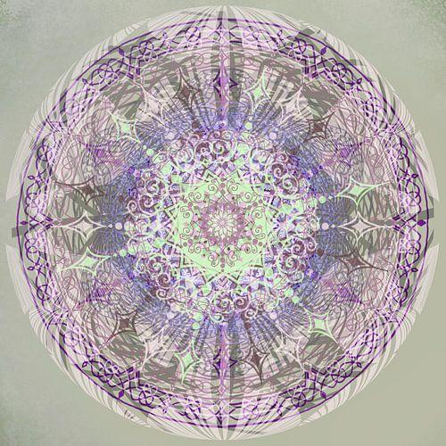 Kaleidoscoop paars,grijs,groen