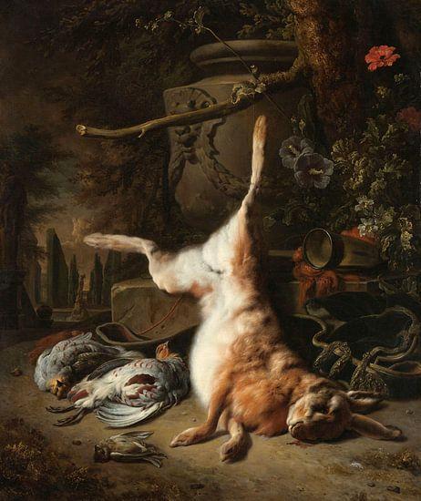 Stilleven met haas en andere jachtbuit, Jan Weenix van Meesterlijcke Meesters