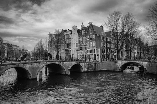 Een koude dag op de keizersgracht Amsterdam