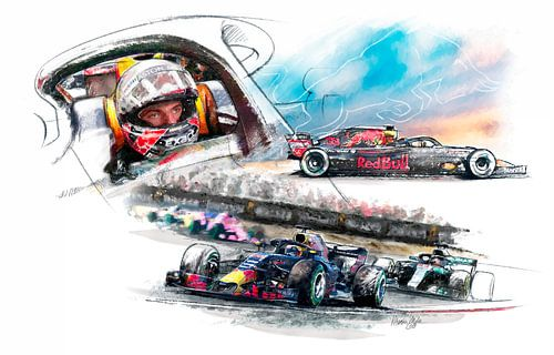 Max Verstappen - Red Bull Racing van Martin Melis