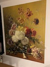 Kundenfoto: Stillleben mit Blumen in einem Vase, auf fototapete
