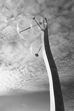 Kunstzinnige lantaarnpaal van John Ploeg