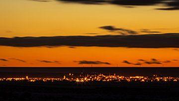 Sonnenuntergang über der Stadt von videomundum