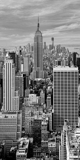 Manhattan black and white Panoramic View