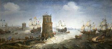 Die Gefangennahme von Damiate, Cornelis Claesz van Wieringen von