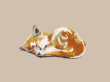 De kleine slapende vos van Studio Carper