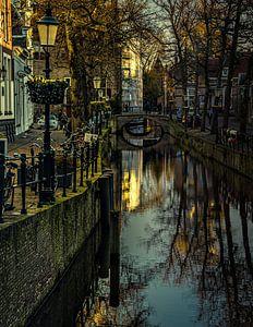 Amersfoort, laatste licht in de gracht.  Amersfoort, last sun in the canal.