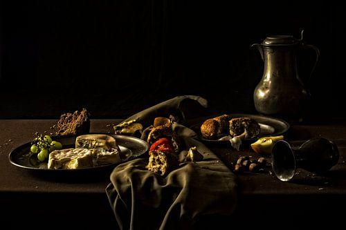 Stilleven verlaten ontbijt van Esther Swaager