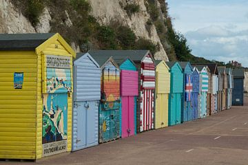 Strandhuisjes aan de kust van Broadstairs sur Maurice Welling