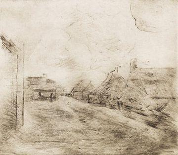 Straat in Zandvoort, Max Liebermann, 1890 van Atelier Liesjes